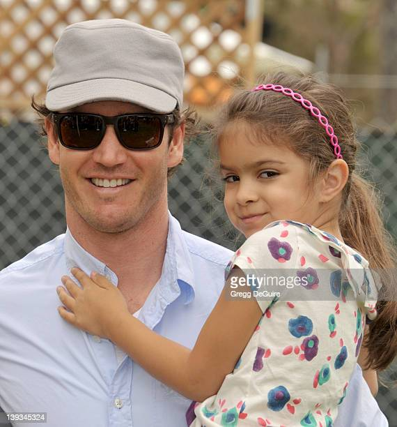 MarkPaul Gosselaar and daughter Ava Lorenn Gosselaar arrive at the 22nd Annual A Time for Heroes Celebrity Carnival at the Wadsworth Theater on June...