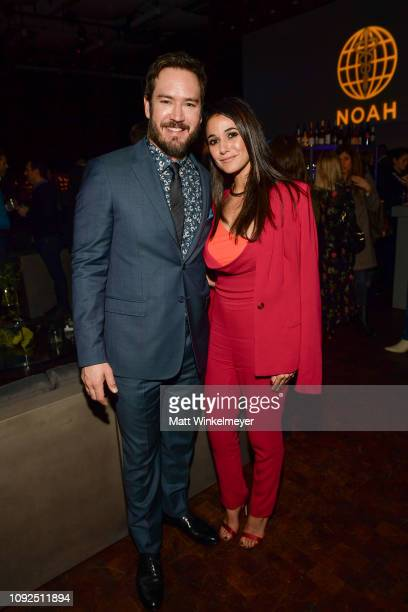 MarkPaul Gosselaar and Emmanuelle Chriqui attend Fox's The Passage premiere party at The Broad Stage at The Broad Stage on January 10 2019 in Santa...