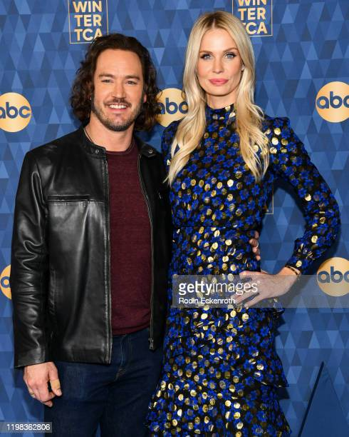 Mark-Paul Gosselaar and his wife Catriona McGinn attend the ABC Television's Winter Press Tour 2020 at The Langham Huntington, Pasadena on January...