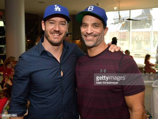 MarkPaul Gosselaar and Johnathon Schaech at the 7th Annual Santa's Secret Workshop benefiting LA Family Housing at Andaz on December 2 2017 in West...
