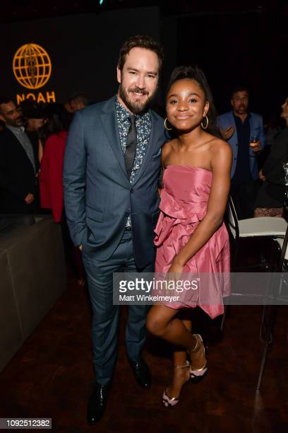 MarkPaul Gosselaar and Saniyya Sidney attend Fox's The Passage premiere party at The Broad Stage at The Broad Stage on January 10 2019 in Santa...