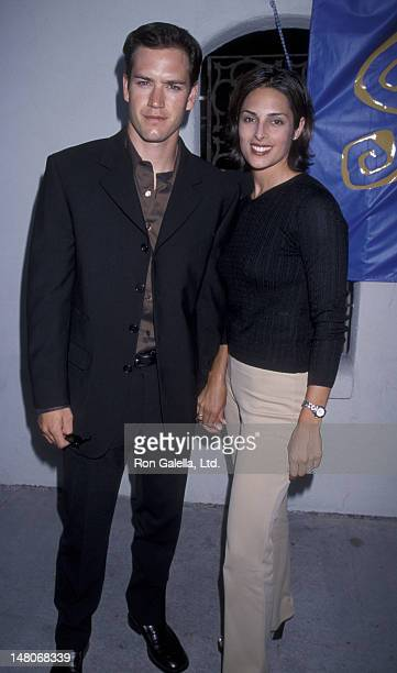 MarkPaul Gosselaar and wife Lisa Ann Russell attend WB AllStar Summer Press Tour on July 25 1998 at the Twin Palms Restaurant in Pasadena California