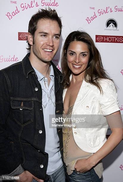 MarkPaul Gosselaar and wife Lisa Russell during The Bad Girl's Guide Premiere Party sponsored by Hot Kiss at Beauty Bar in Hollywood California...