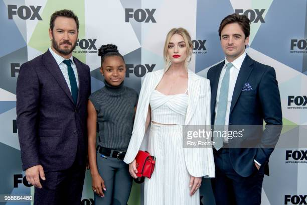 MarkPaul Gosselaar Saniyya Sidney Brianne Howey and Vincent Piazza attend the 2018 Fox Network Upfront at Wollman Rink Central Park on May 14 2018 in...