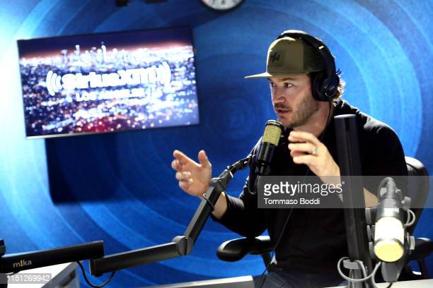 MarkPaul Gosselaar visits the SiriusXM Studios In Los Angeles at SiriusXM Studios on May 23 2019 in Los Angeles California
