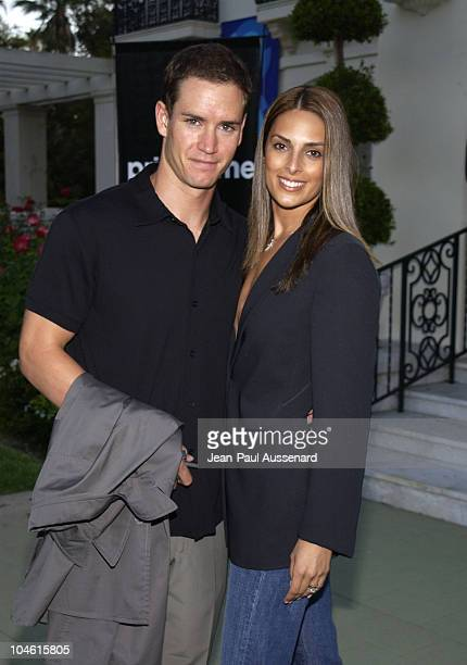 MarkPaul Gosselaar wife Lisa during ABC 2002 Summer Press Tour All Star Party at Tournament House in Pasadena California United States