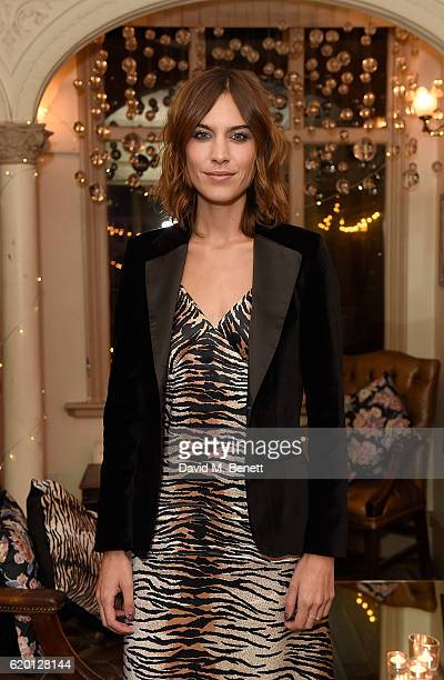 Marks and Spencer and Alexa Chung celebrate 'The Winter Archive by Alexa Collection' with launch party at Bush Hall Shepherds Bush on November 1 2016...