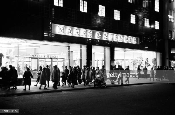 Marks and Spencer Oxford Street London 8th December 1964
