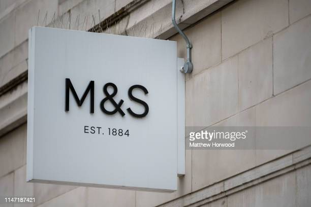 Marks and Spencer shop sign on May 2 2019 in Cardiff United Kingdom