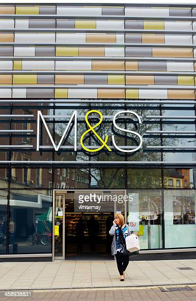 marks and spencer store, norwich - marks and spencer stock pictures, royalty-free photos & images