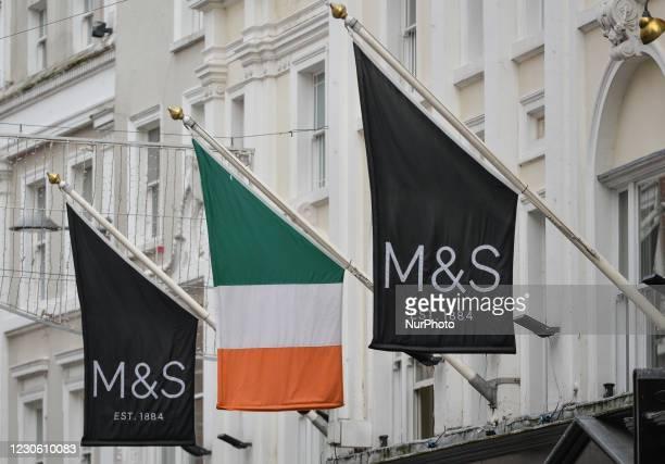 Marks and Spencer store on Grafton Street in Dublin seen during Level 5 Covid-19 lockdown. On Friday, 15 January in Dublin, Ireland.