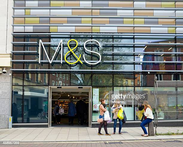 Marks and Spencer store with shoppers, Norwich