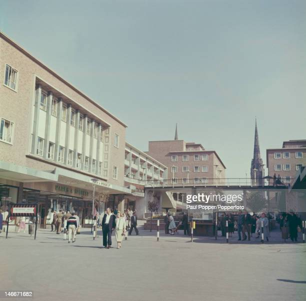 A Marks Spencer at a shopping precinct built on a bomb site in Coventry one of the first such precincts in the UK circa 1955