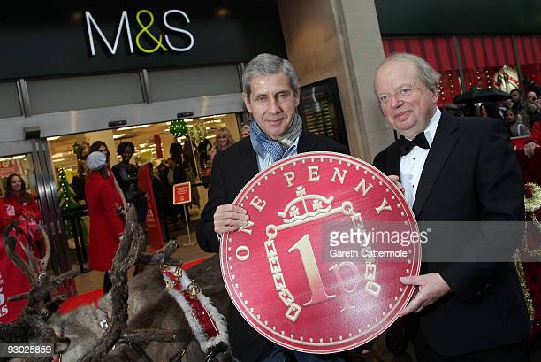 Marks Spencer Executive chairman Sir Stuart Rose and television/radio journalist and broadcasterJohn Sergeant attend the launch of the Marks Spencer...