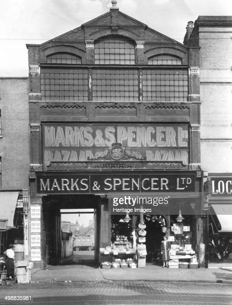 Marks Spencer Ltd Stratford London 1910 Openfronted shop in London's East End In 1894 Thomas Spencer joined Russianborn Polish refugee Michael Marks...