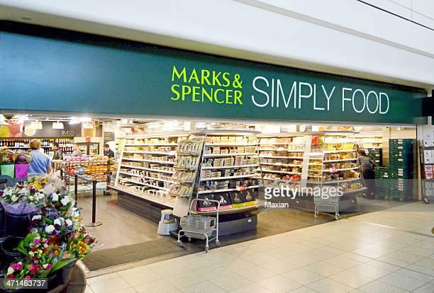 marks & spencer simply food shop - marks and spencer stock pictures, royalty-free photos & images