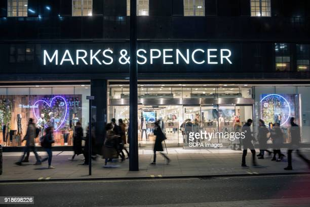 Marks Spencer store seen in London famous Oxford street Central London is one of the most attractive tourist attraction for individuals whose willing...
