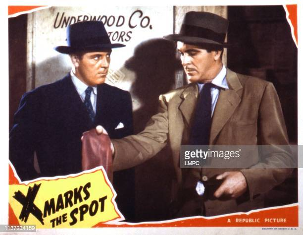 X Marks The Spot lobbycard Damian O'Flynn 1942