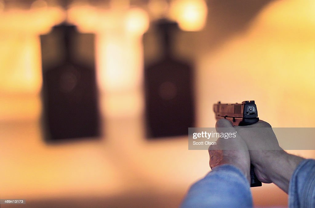 Gun Range Trains Gun Owners Ahead Of Illinois' New Conceal Carry Law : News Photo
