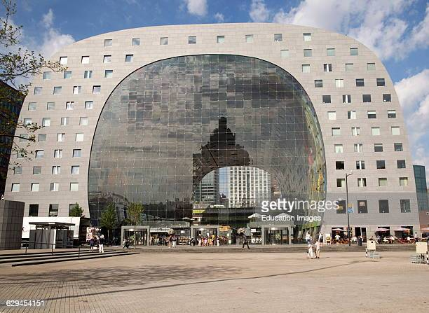 Markthal building in Binnenrotte central Rotterdam Netherlands completed 2014 architects MVRDV