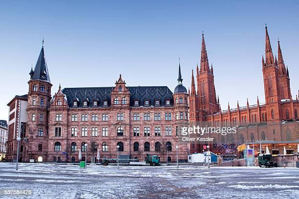 Marktkirche and Rathaus Wiesbaden