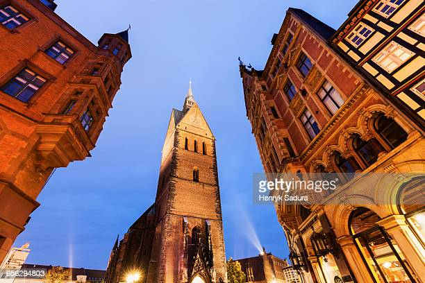 marktkirche in hanover hanover (hannover), lower saxony, germany - local landmark stock pictures, royalty-free photos & images