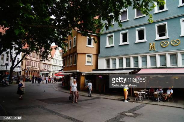 Marktstrasse in Bad Cannstatt, Traditional, timbered Houses, Stuttgart, Germany