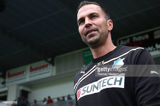 Markus Babbel head coach of Hoffenheim attends the first training session of TSG 1899 Hoffenheim for the upcoming Bundesliga season 2012/13 at...