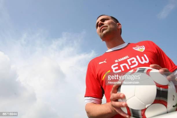 Markus Babbel, head coach of Stuttgart looks on during the VfB Stuttgart training session on June 27, 2009 in Stuttgart, Germany.