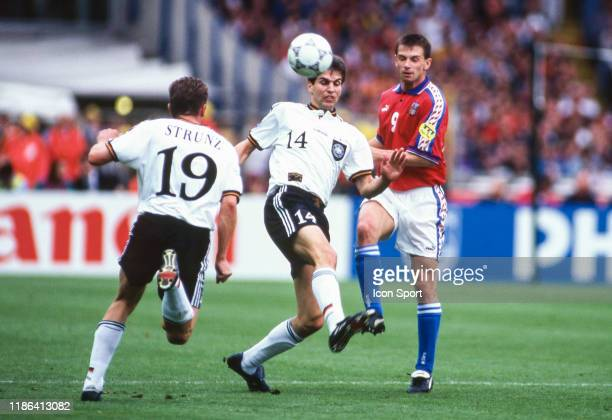Markus Babbel of Germany during the European Championship final match between Germany and Czech Republic at Wembley Stadium Londres England on 30...
