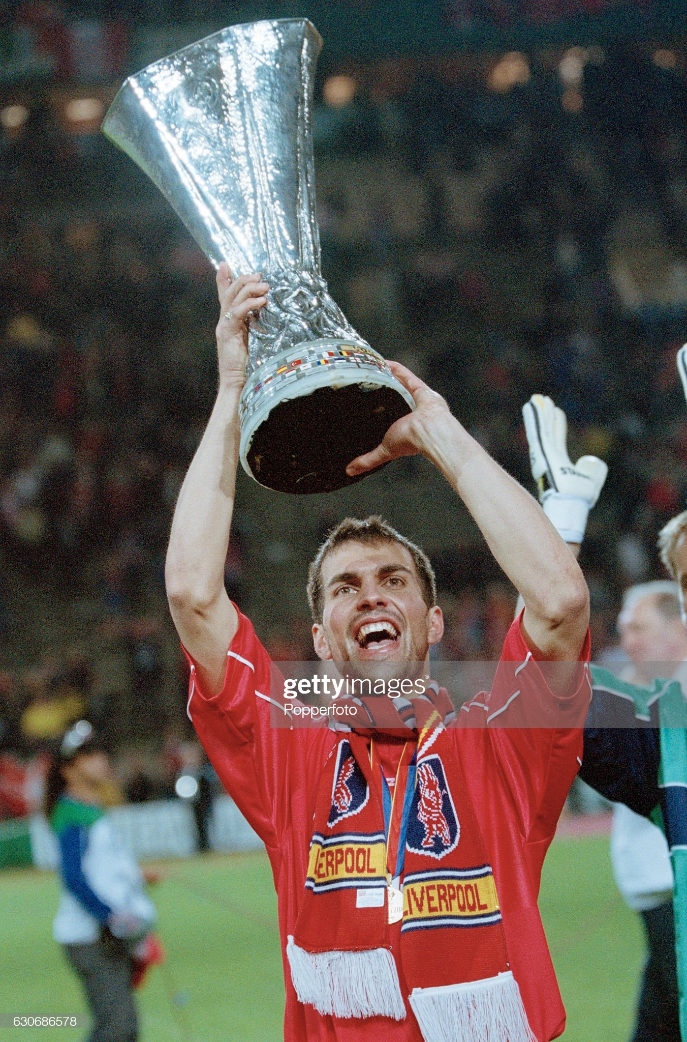 Liverpool Win The UEFA Cup : News Photo