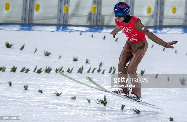 Markus Eisenbichler from Germany during training for the men's ski jumping event in the Alpensia Ski Jump Centre in Pyeongchang South Korea 14...