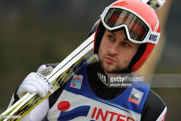 Markus Eisenbichler of Germany pictured at the Four Hills Tournament of the FIS Ski Jumping World Cup in Innsbruck Austria 4 January 2017 Photo...