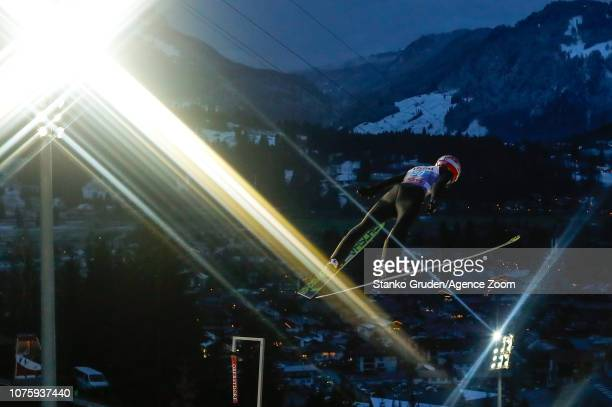 Markus Eisenbichler of Germany takes 2nd place during the FIS Nordic World Cup Four Hills Tournament on December 30 2018 in Oberstdorf Germany