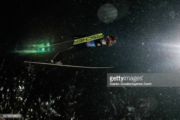Markus Eisenbichler of Germany takes 2nd place during the FIS Nordic World Cup Four Hills Tournament on January 6 2019 in Bischofshofen Austria