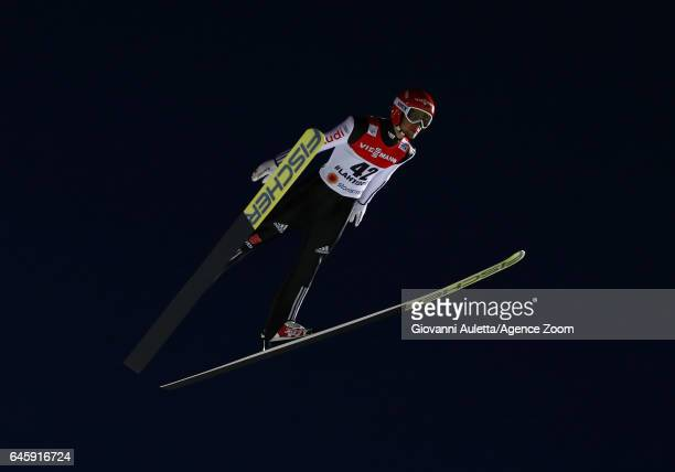 Markus Eisenbichler of Germany wins the bronze medal during the FIS Nordic World Ski Championships Men's Ski Jumping HS100 on February 25 2017 in...