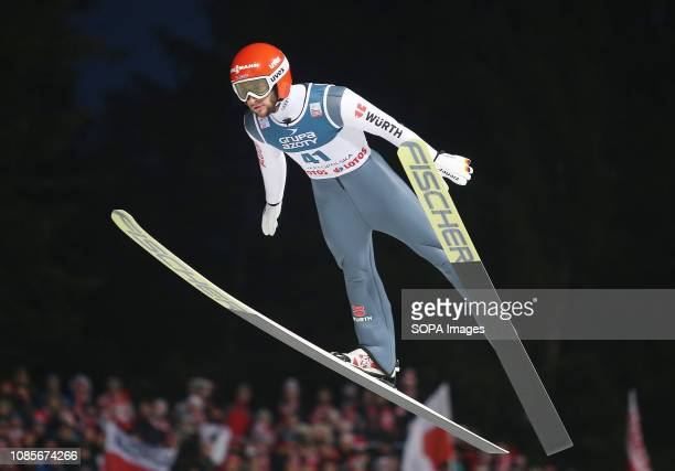 Markus Eisenbichler seen in action during the individual competition of the FIS Ski Jumping World Cup in Zakopane