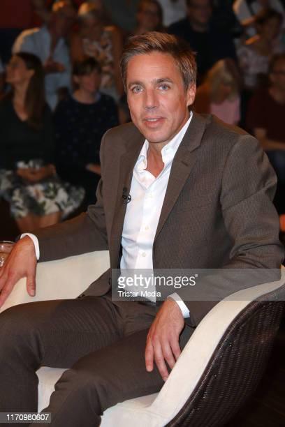 Markus Feldenkirchen during the Markus Lanz TV Show on August 28 2019 in Hamburg Germany