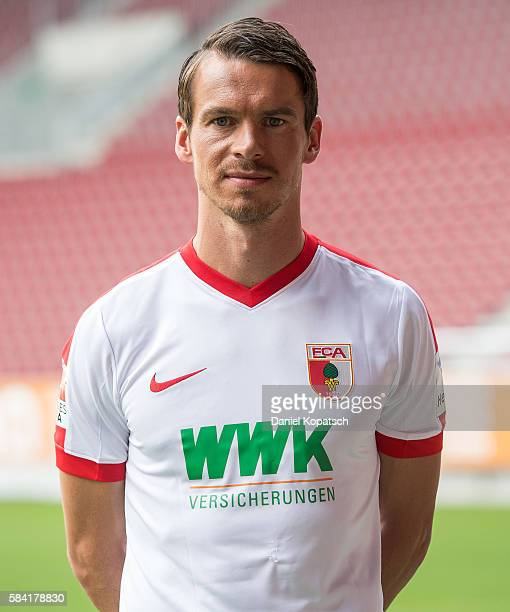 Markus Feulner poses during the Team Presentation of FC Augsburg on July 28 2016 in Augsburg Germany