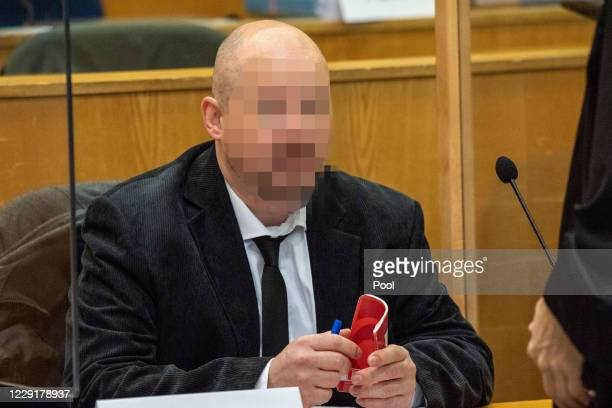 Markus H, co-defendant in the trial of the murder of the politician Walter Luebcke, is pictured in the courtroom of the Higher Regional Court on...