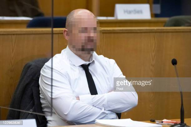 Markus H, co-defendant in the trial of the murder of the politician Walter Luebcke, arrives in the courtroom of the Higher Regional Court on November...