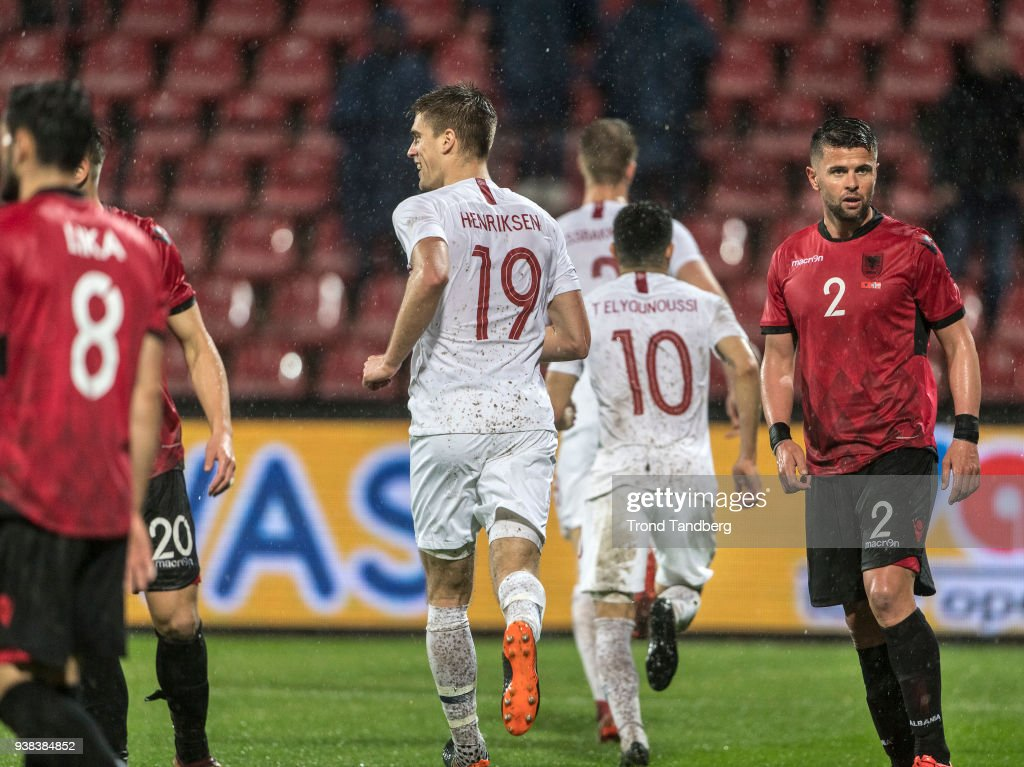 Markus Henriksen, Tarik Elyounoussi Of Norway During