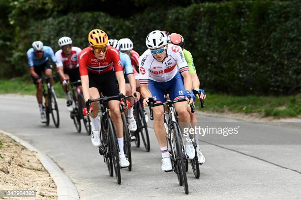 Markus Hoelgaard of Norway and Ethan Hayter of The United Kingdom compete during the 94th UCI Road World Championships 2021 - Men Elite Road Race a...