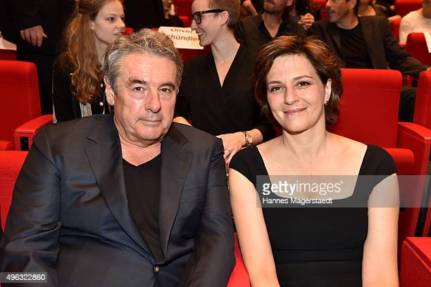 Markus Imboden and actress Martina Gedeck during the 5th German Director Award Metropolis at HFF on November 8 2015 in Munich Germany