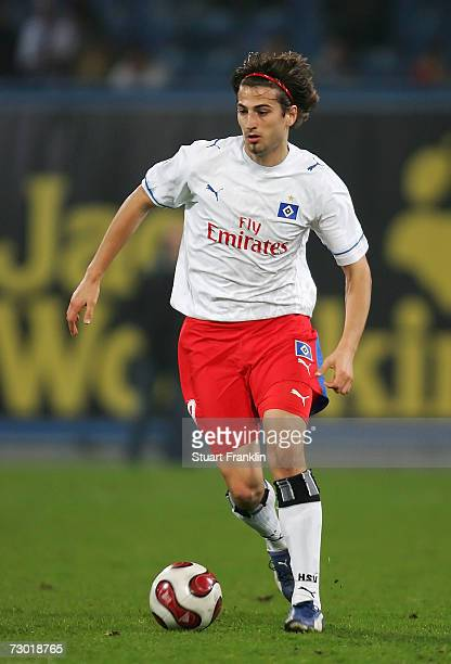 Markus Karl of Hamburger SV in action during the friendly match bewteen Hansa Rostock and Hamburger SV at the Ostsee stadium on January 16 2007 in...