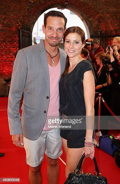 Markus Klauk and Katrin Hess attend the NRW Filmparty at Wolkenburg on June 17 2014 in Cologne Germany