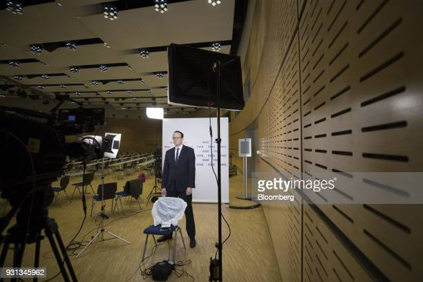 Markus Krebber chief financial officer of RWE AG pauses during a Bloomberg Television interview in Essen Germany on Tuesday March 13 2018 EON SE will...