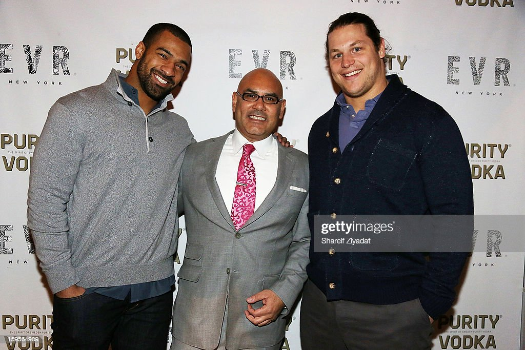 Markus Kuhn, Tony Martinez and Spencer Paysinger attend the opening of EVR 54 on January 15, 2013 in New York City.