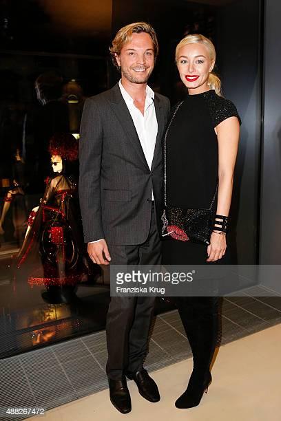 Markus LangesSwarovski and Julia LangesSwarovski attend the presentation of installations by designer Jean Paul Gaultier at the Swarovski...