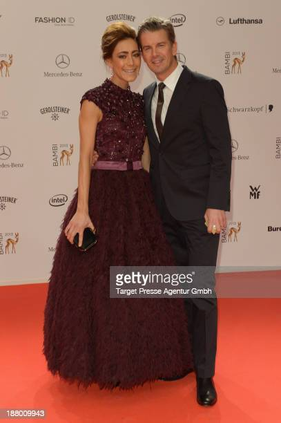 Markus Lanz and Angela Gessmann attend the Bambi Awards 2013 at Stage Theater on November 14 2013 in Berlin Germany